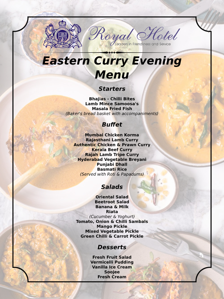 Eastern Curry Evening
